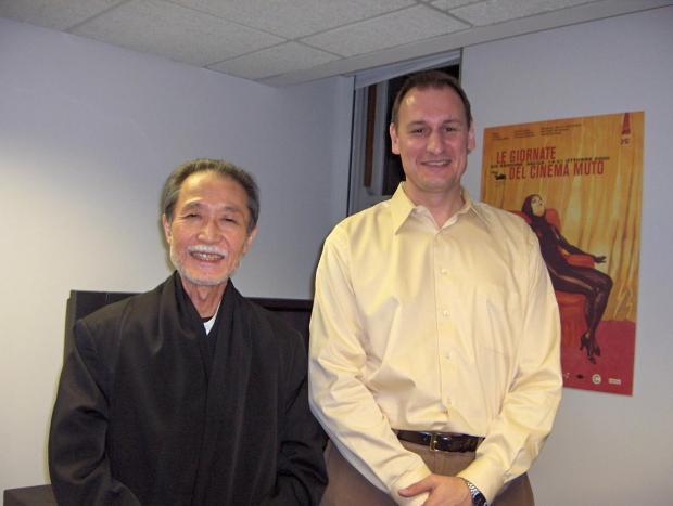 Picture of Visiting director Yoshida Kiju and Professor Michael Raine
